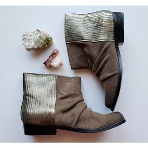 Joe's Jeans | Leather and Gold Booties